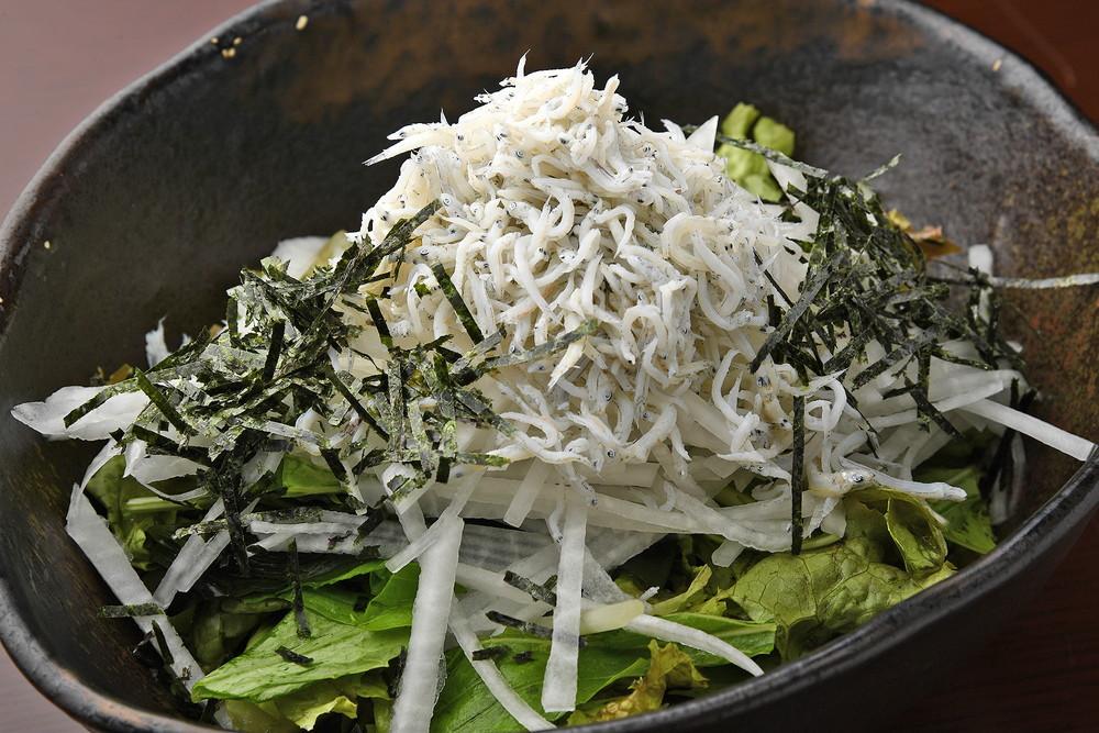 Daikon Radish Salad with Young Sardines
